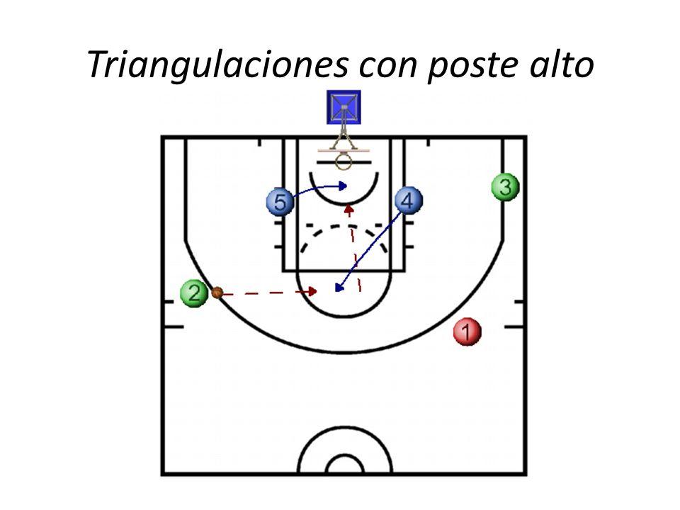Triangulaciones con poste alto