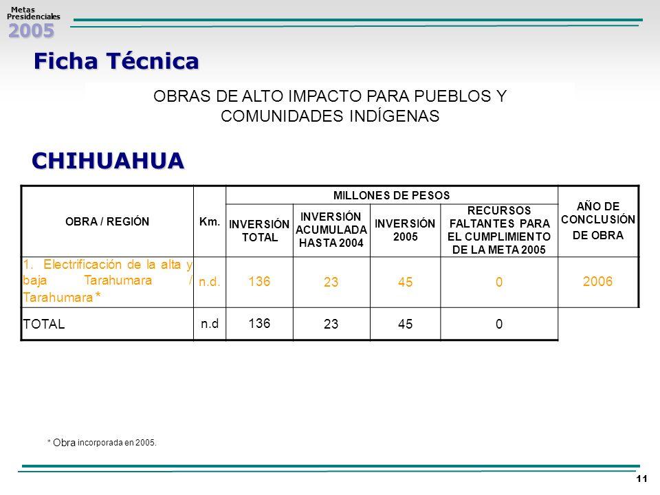 Ficha Técnica CHIHUAHUA