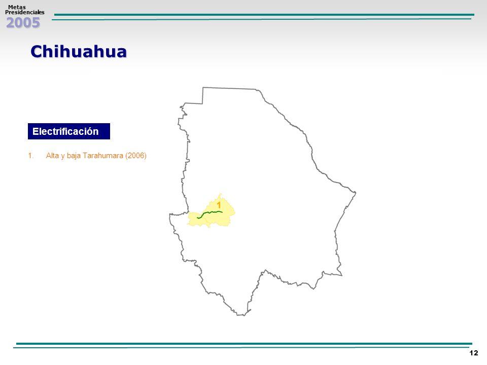 Chihuahua Electrificación Alta y baja Tarahumara (2006)
