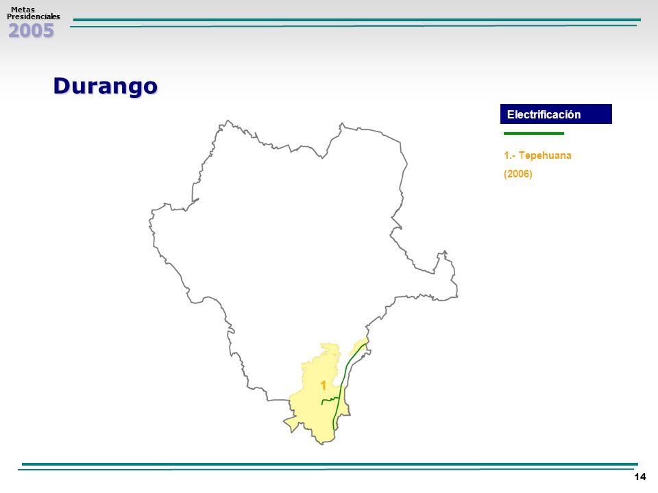 Durango Electrificación 1.- Tepehuana (2006)