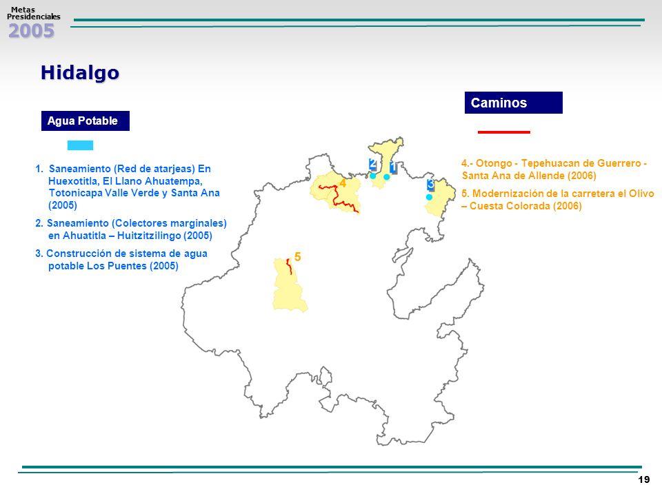 Hidalgo Caminos Agua Potable
