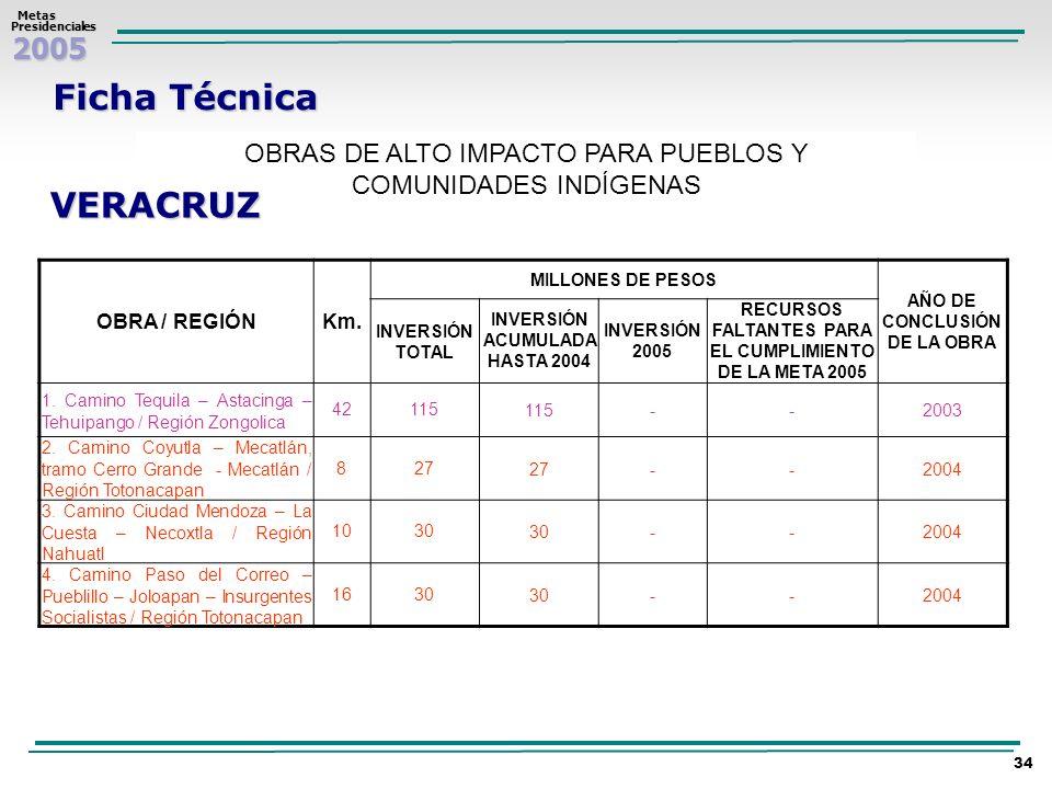 Ficha Técnica VERACRUZ