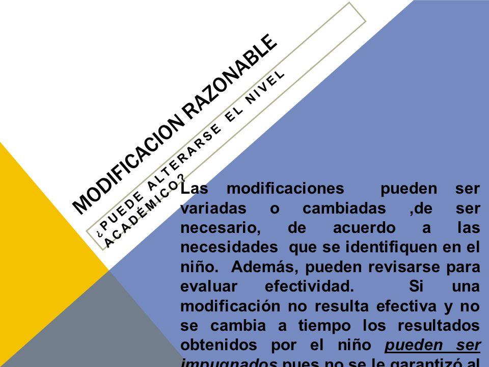 MODIFICACION RAZONABLE
