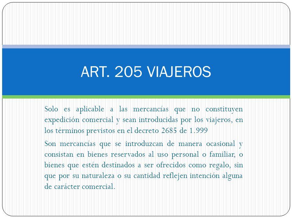 ART. 205 VIAJEROS