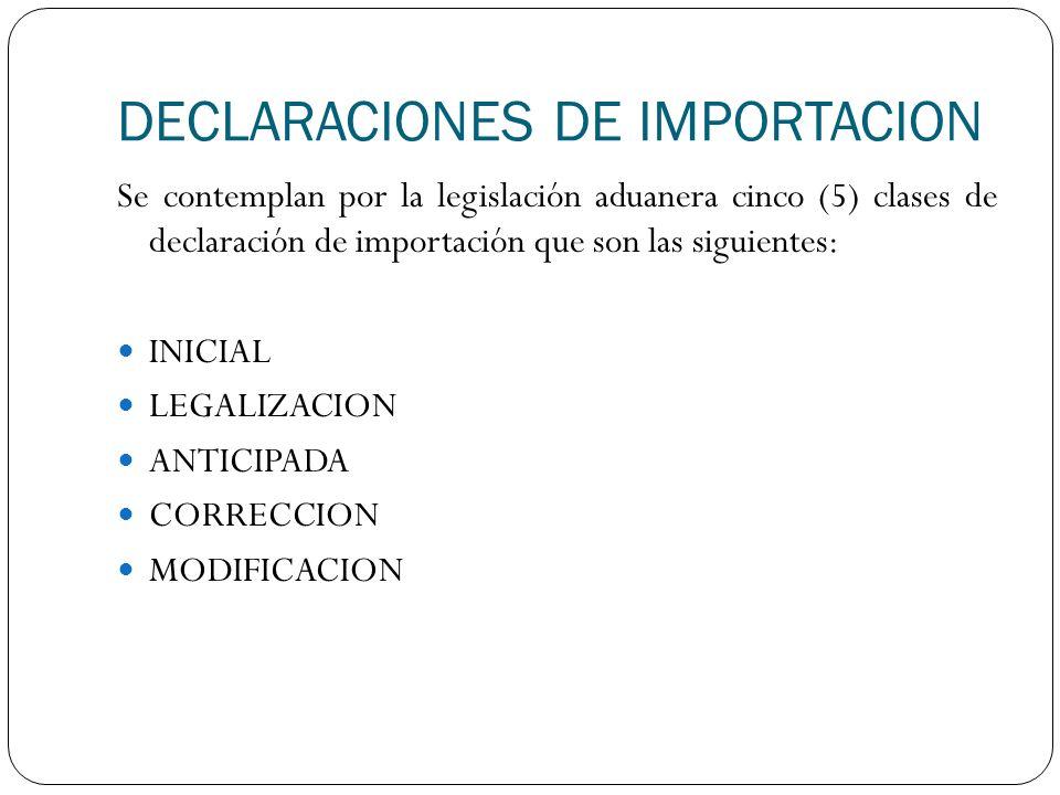DECLARACIONES DE IMPORTACION
