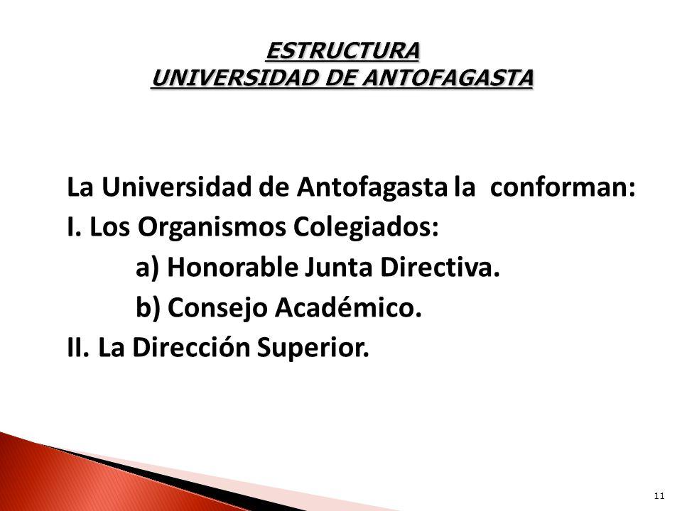 ESTRUCTURA UNIVERSIDAD DE ANTOFAGASTA