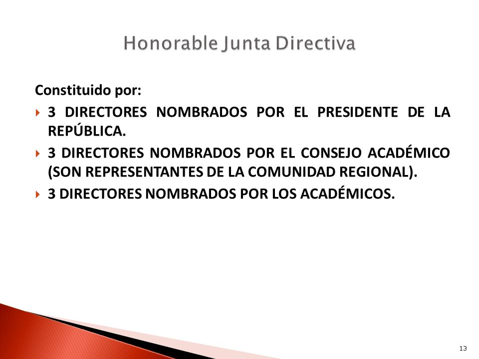 Honorable Junta Directiva