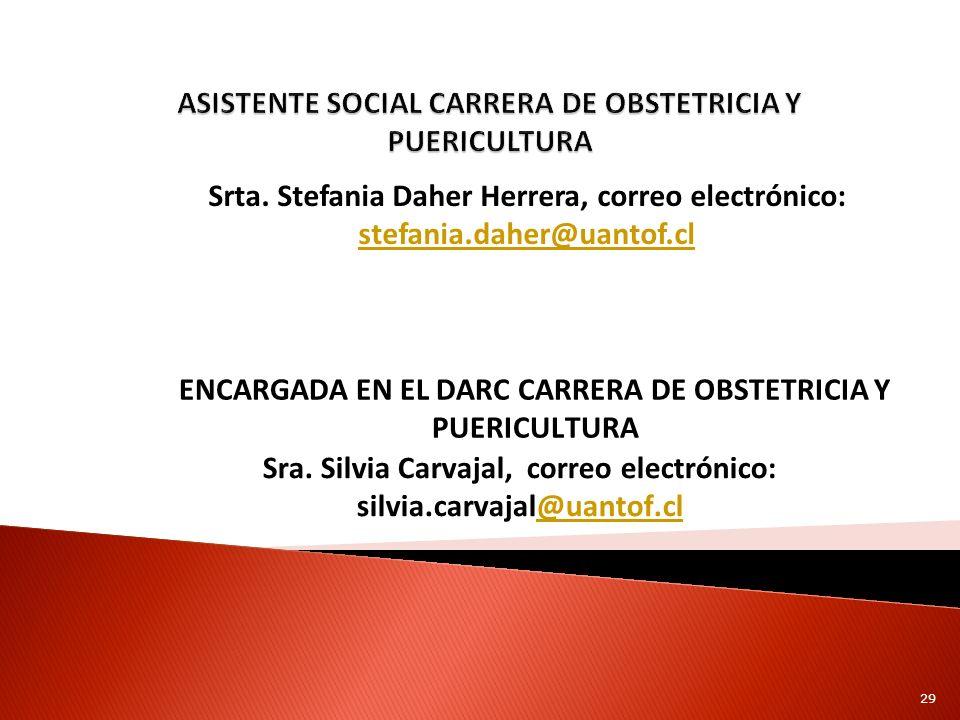ASISTENTE SOCIAL CARRERA DE OBSTETRICIA Y PUERICULTURA