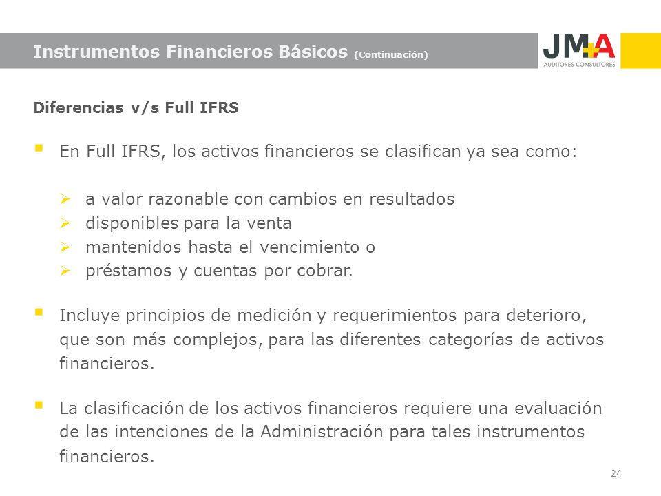 Instrumentos Financieros Básicos (Continuación)