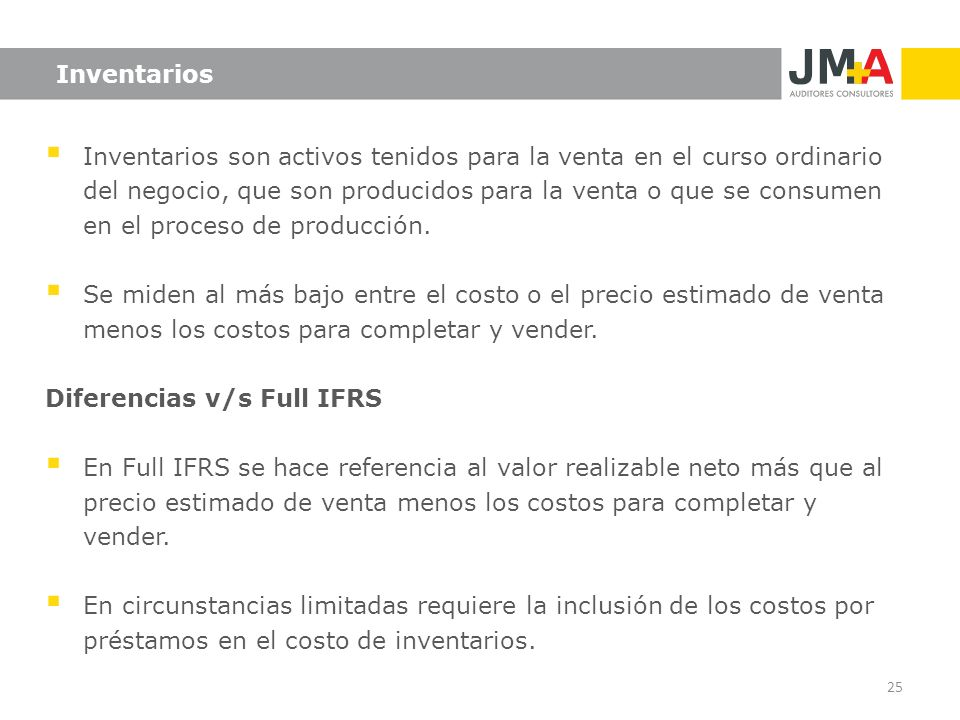 Diferencias v/s Full IFRS