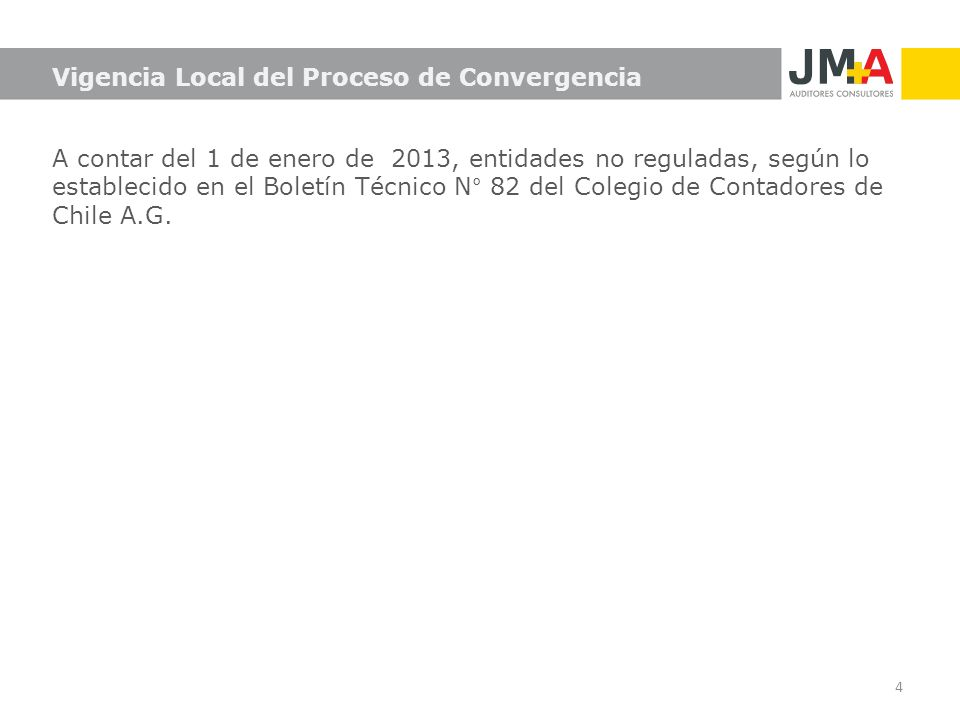 Vigencia Local del Proceso de Convergencia