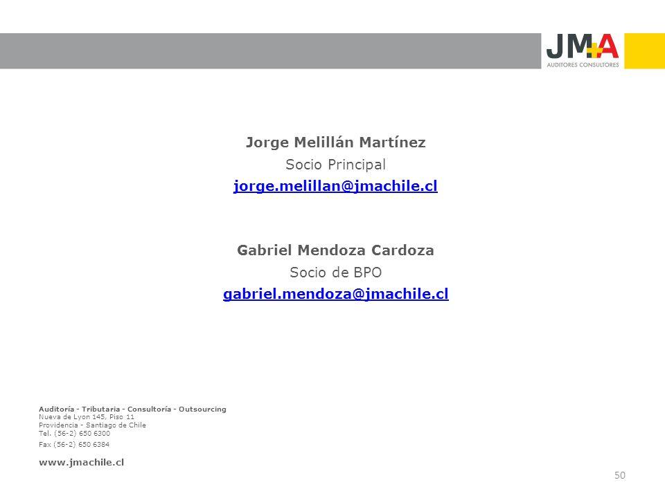 Jorge Melillán Martínez Gabriel Mendoza Cardoza