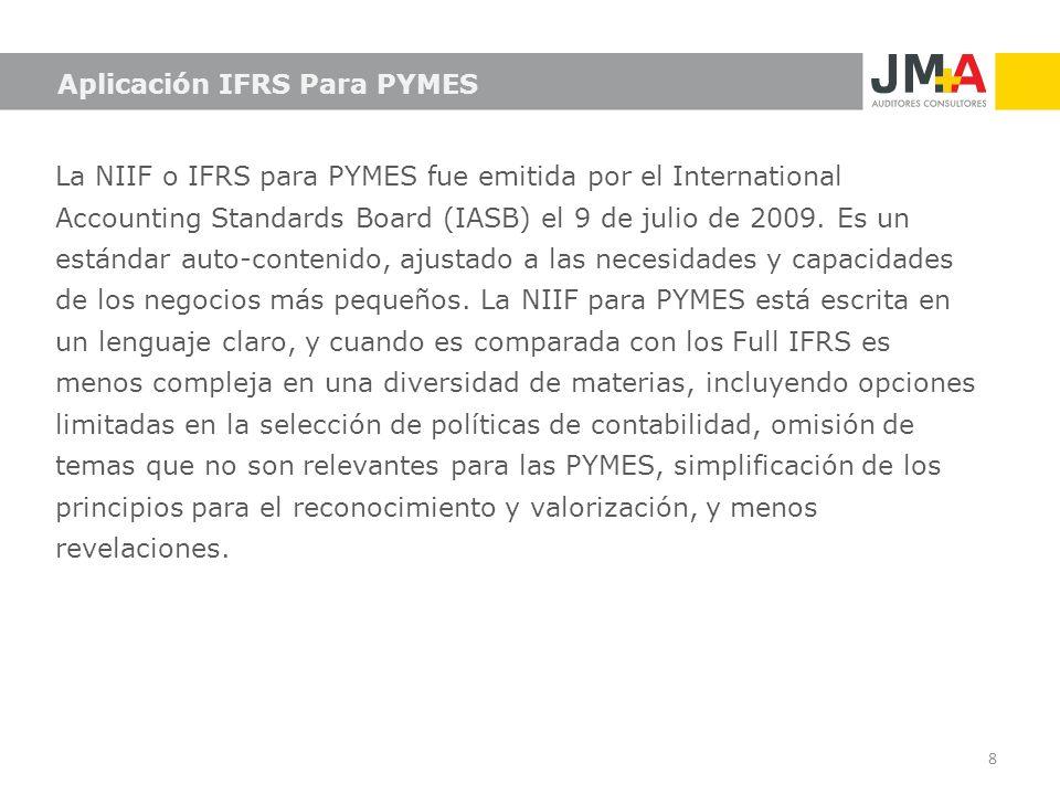 Aplicación IFRS Para PYMES