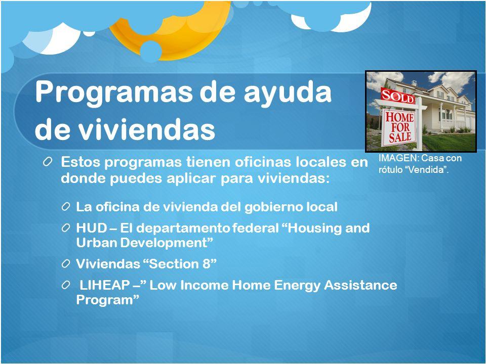 Programas de ayuda de viviendas