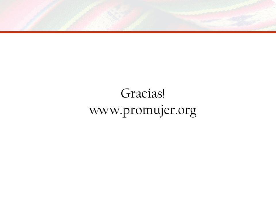 Gracias! www.promujer.org