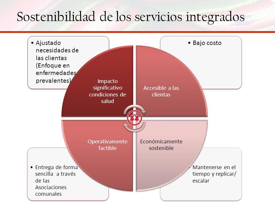 Sostenibilidad de los servicios integrados