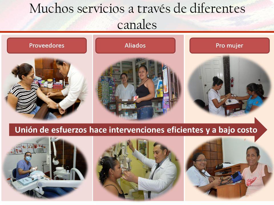 Muchos servicios a través de diferentes canales