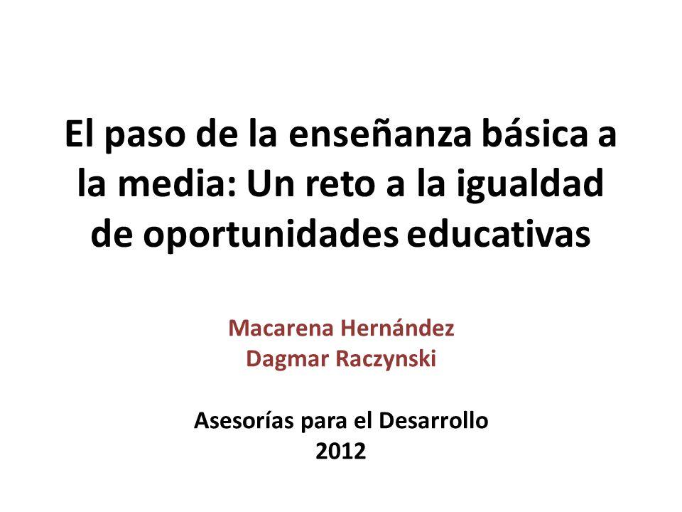 Macarena Hernández Dagmar Raczynski Asesorías para el Desarrollo 2012