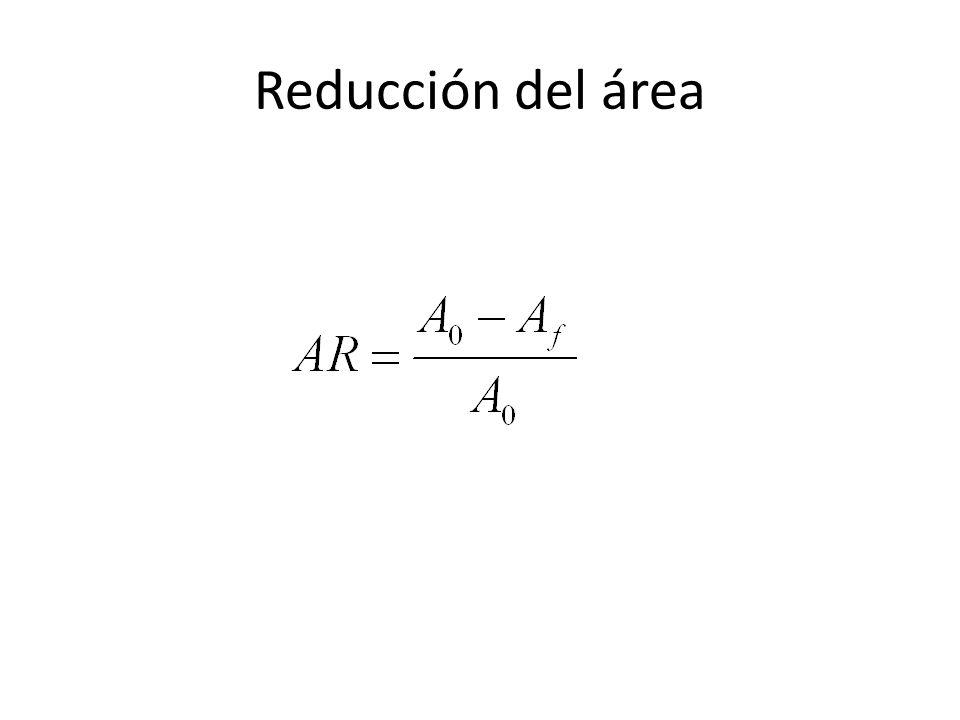 Reducción del área