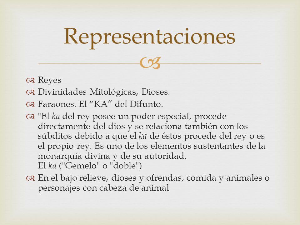 Representaciones Reyes Divinidades Mitológicas, Dioses.