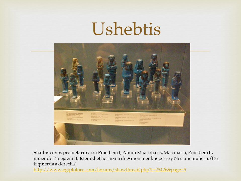 Ushebtis