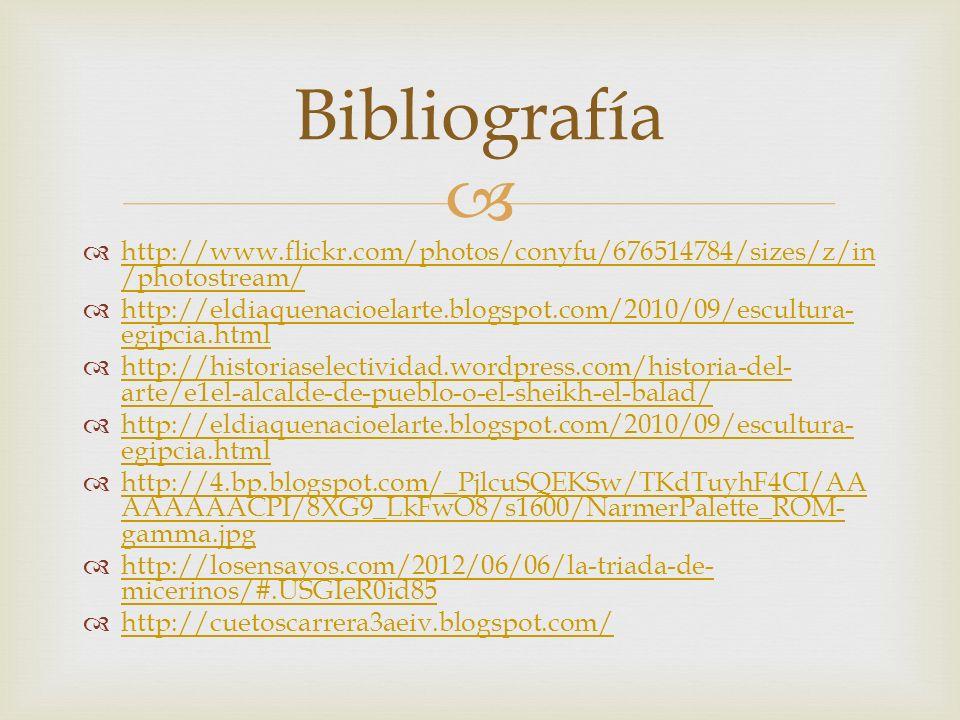 Bibliografía http://www.flickr.com/photos/conyfu/676514784/sizes/z/in/photostream/