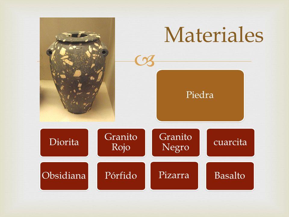 Materiales Piedra Diorita Granito Rojo Granito Negro cuarcita Basalto