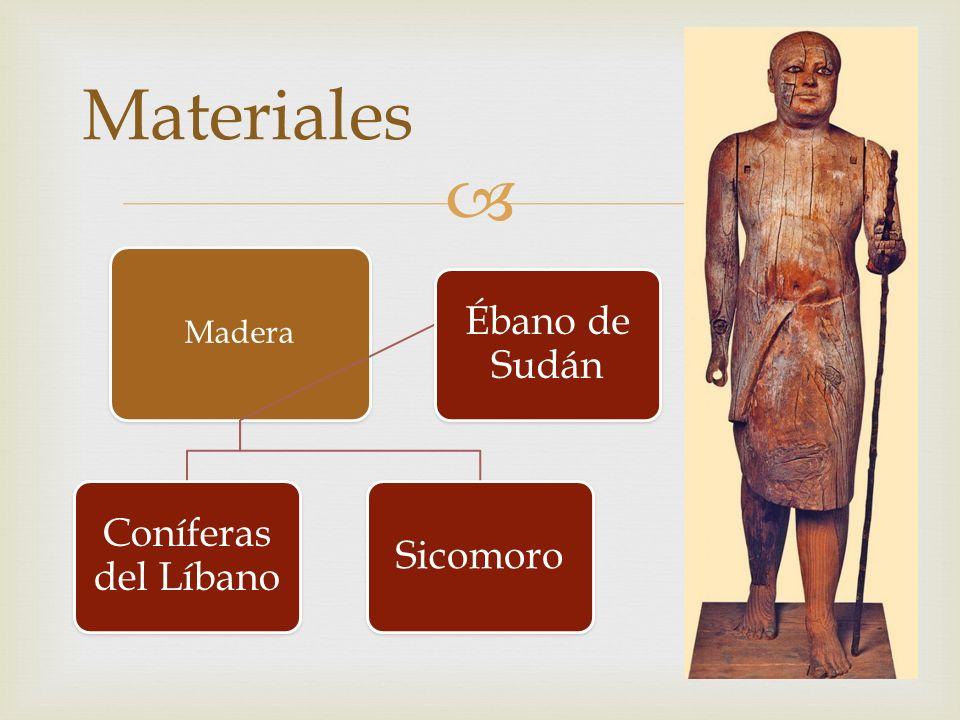 Materiales Madera Coníferas del Líbano Sicomoro Ébano de Sudán