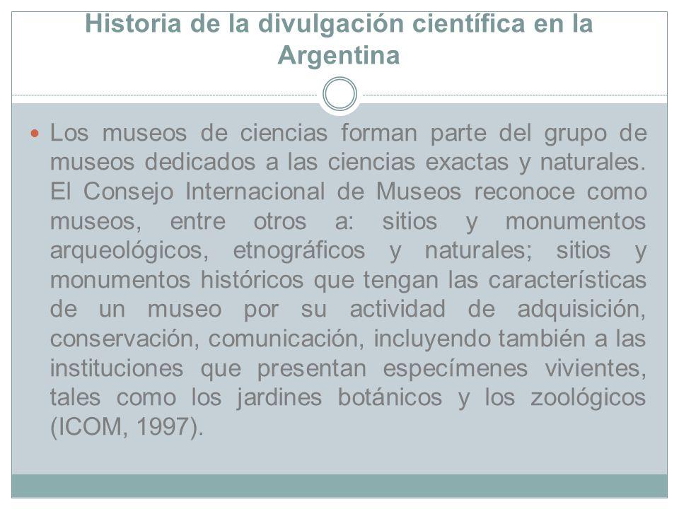 Historia de la divulgación científica en la Argentina