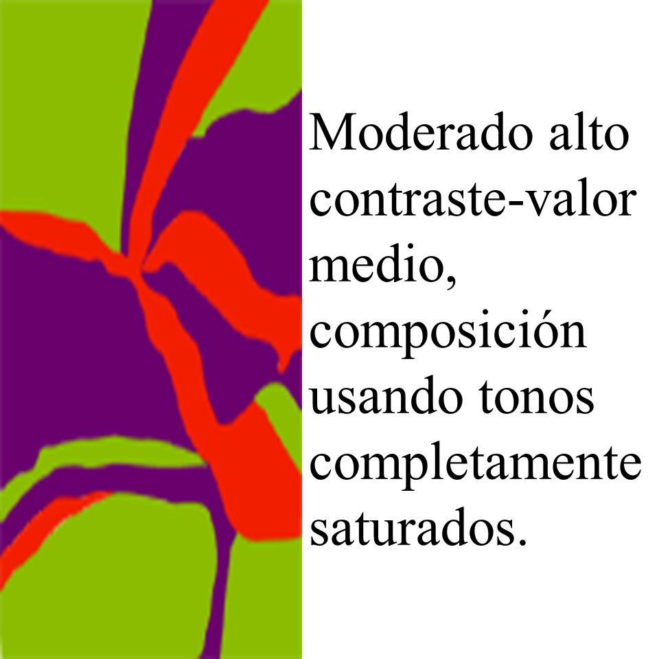 Moderado alto contraste-valor medio, composición