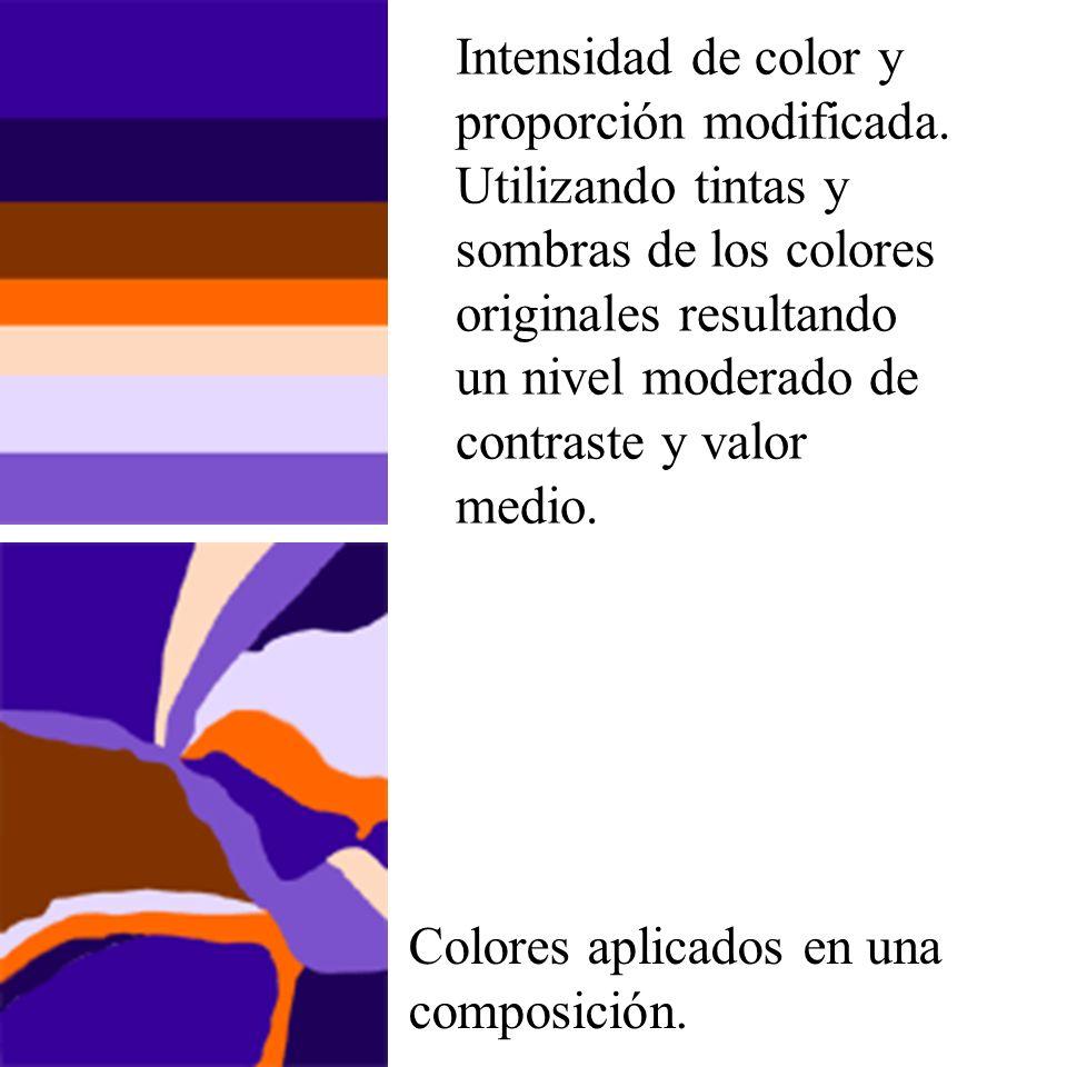 Intensidad de color y proporción modificada