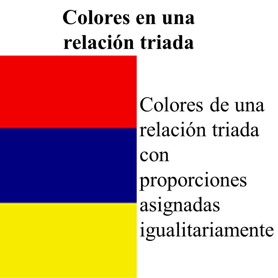 Colores en una relación triada