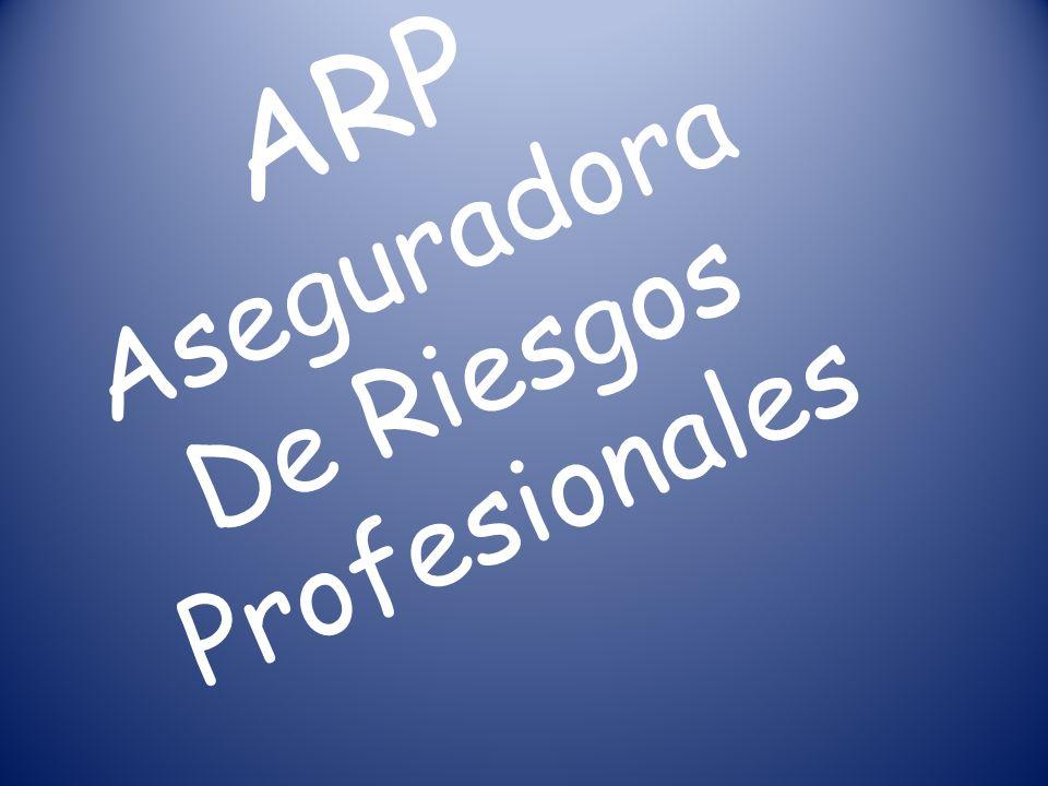 ARP Aseguradora De Riesgos Profesionales