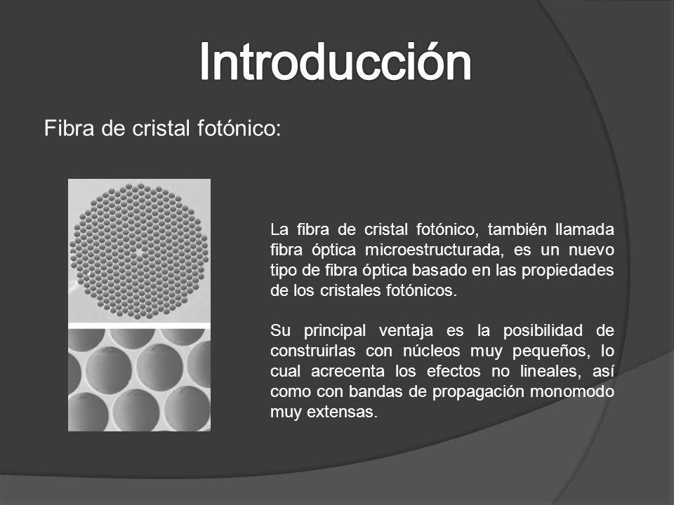 Introducción Fibra de cristal fotónico: