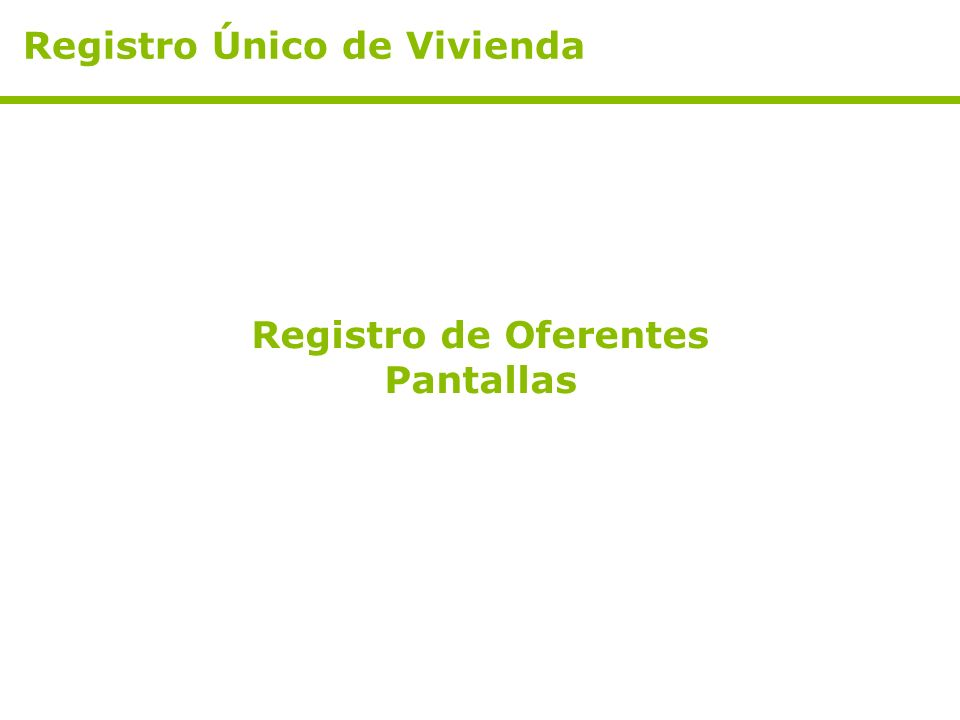 Registro Único de Vivienda