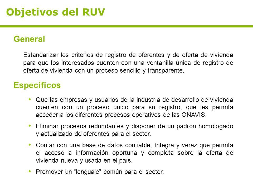 Objetivos del RUV General