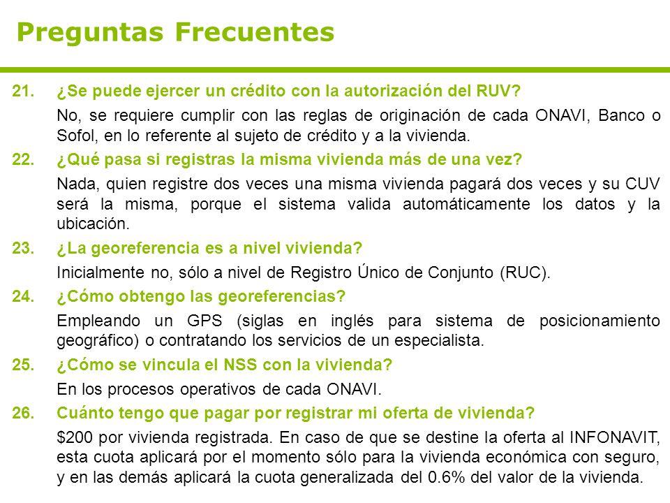 Preguntas Frecuentes ¿Se puede ejercer un crédito con la autorización del RUV
