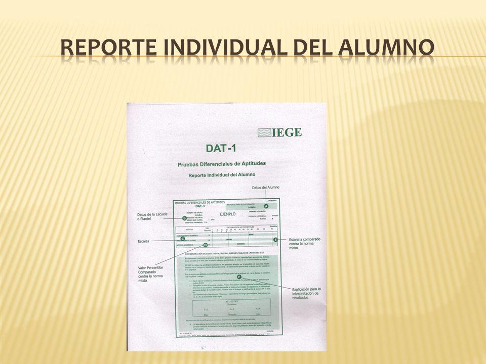 Reporte Individual del Alumno