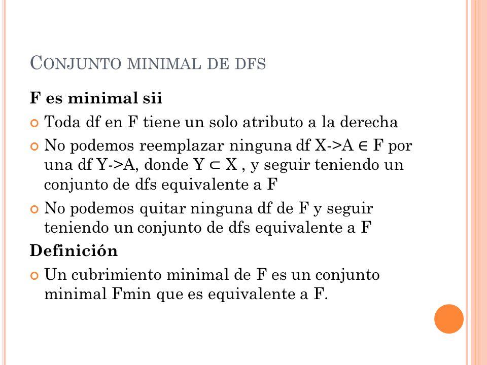 Conjunto minimal de dfs