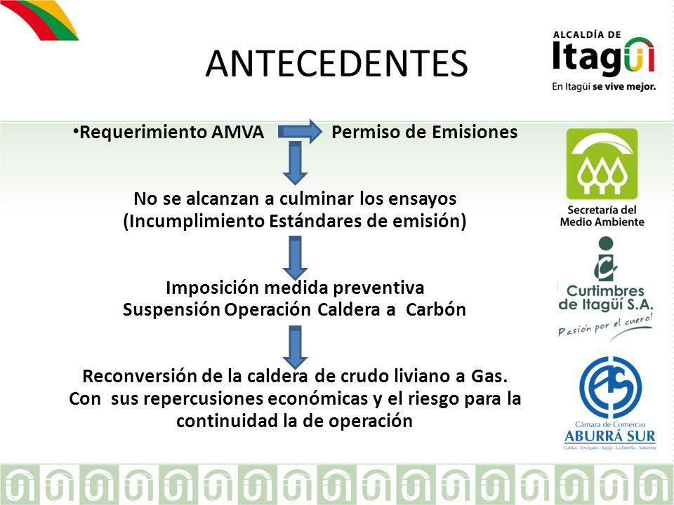 ANTECEDENTES Requerimiento AMVA Permiso de Emisiones