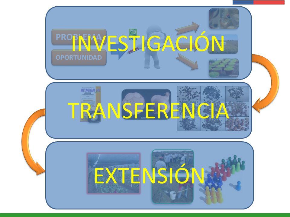 INVESTIGACIÓN PROBLEMA OPORTUNIDAD TRANSFERENCIA EXTENSIÓN