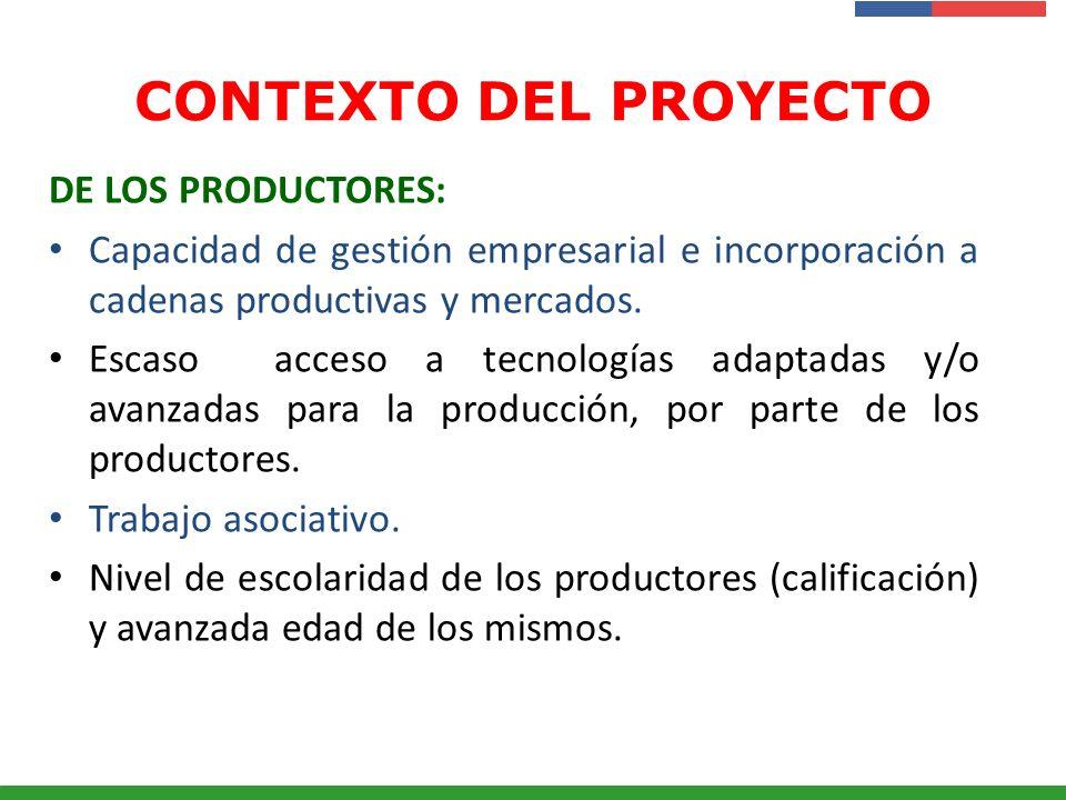 CONTEXTO DEL PROYECTO DE LOS PRODUCTORES: