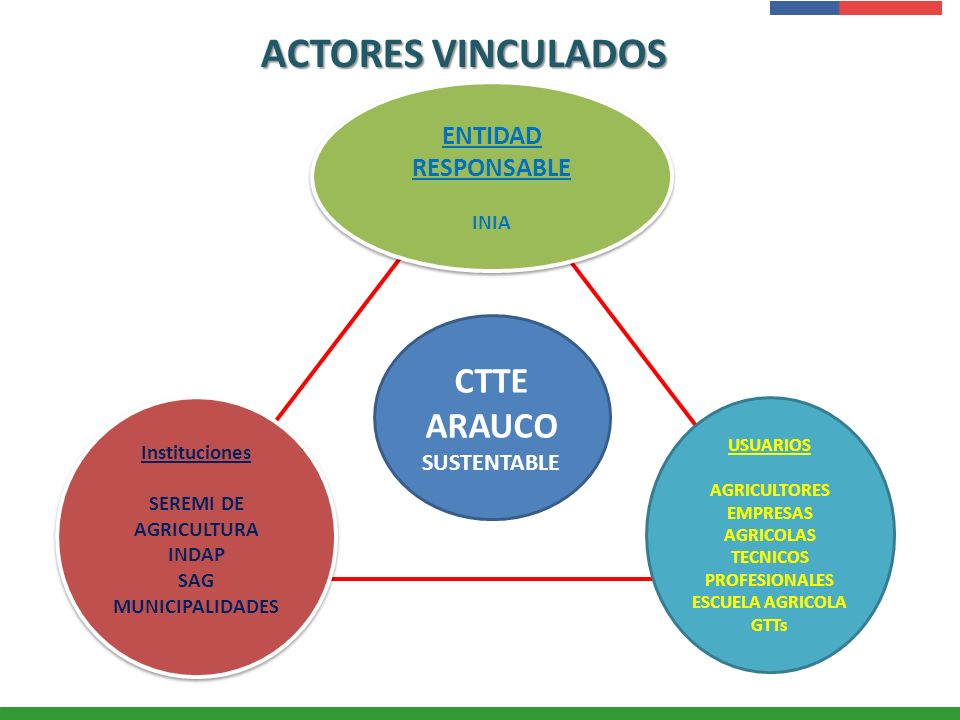 ACTORES VINCULADOS CTTE ARAUCO SUSTENTABLE ENTIDAD RESPONSABLE INIA