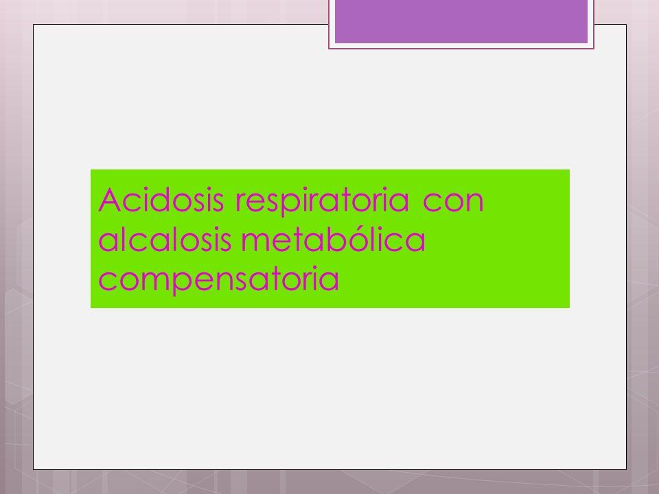 Acidosis respiratoria con alcalosis metabólica compensatoria