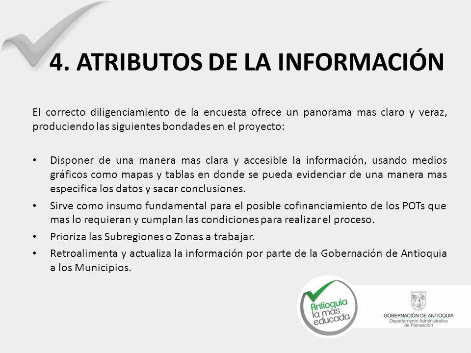 4. ATRIBUTOS DE LA INFORMACIÓN