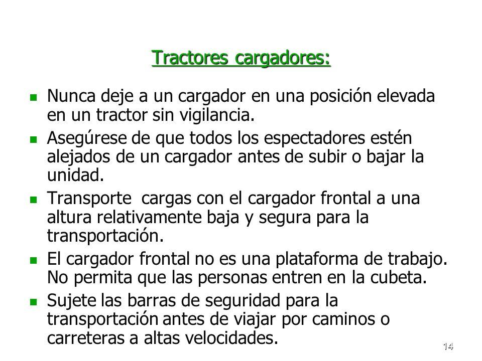 Tractores cargadores: