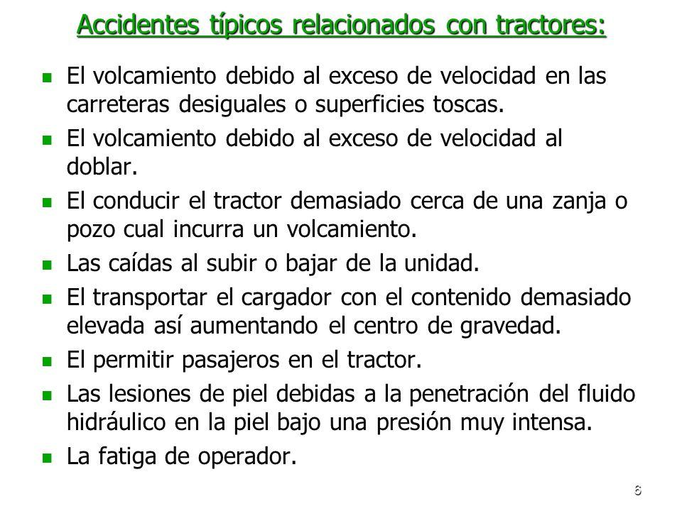 Accidentes típicos relacionados con tractores: