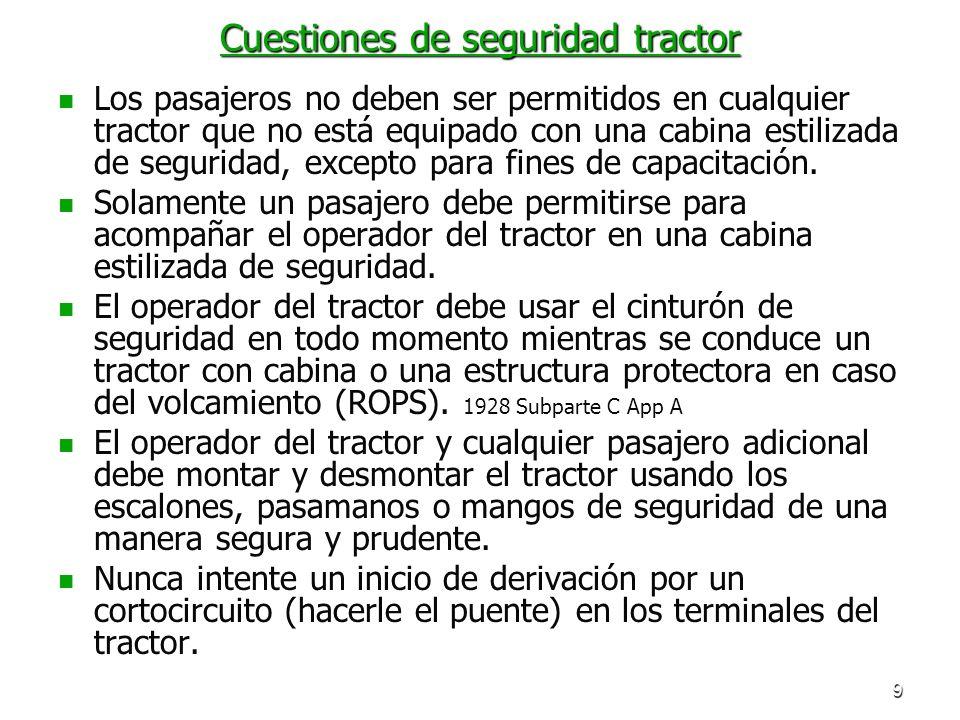 Cuestiones de seguridad tractor