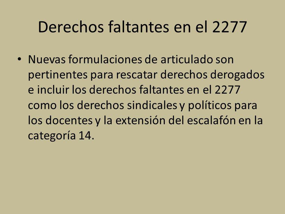 Derechos faltantes en el 2277