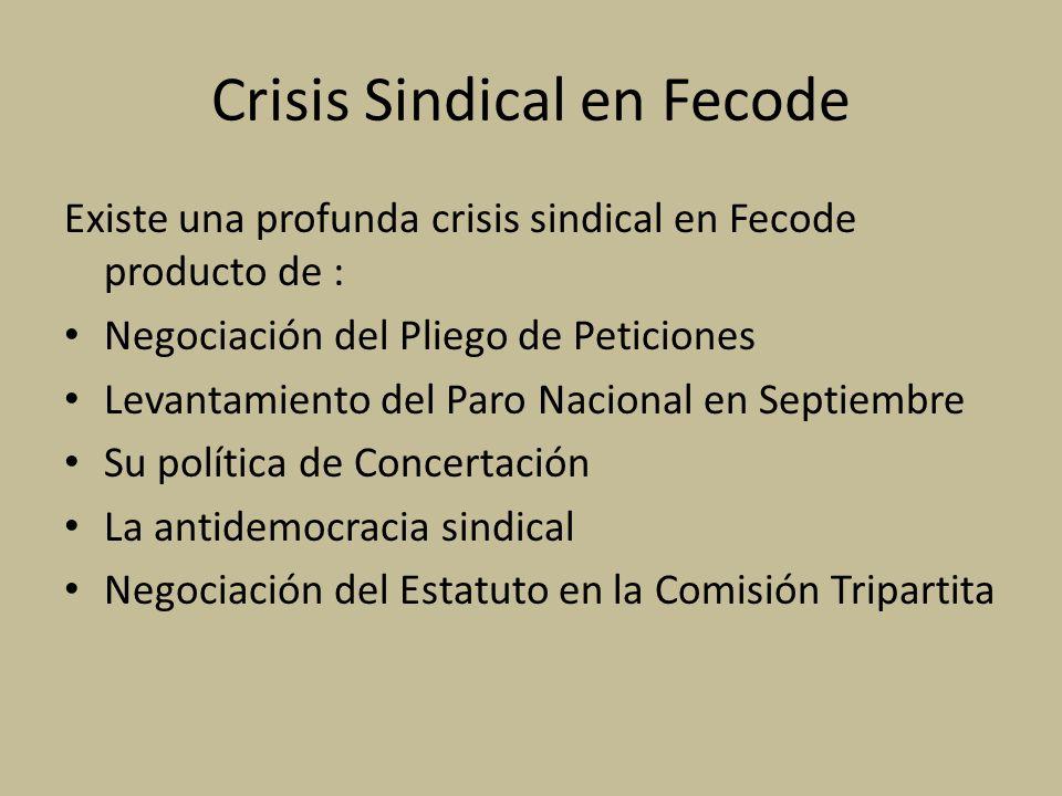 Crisis Sindical en Fecode